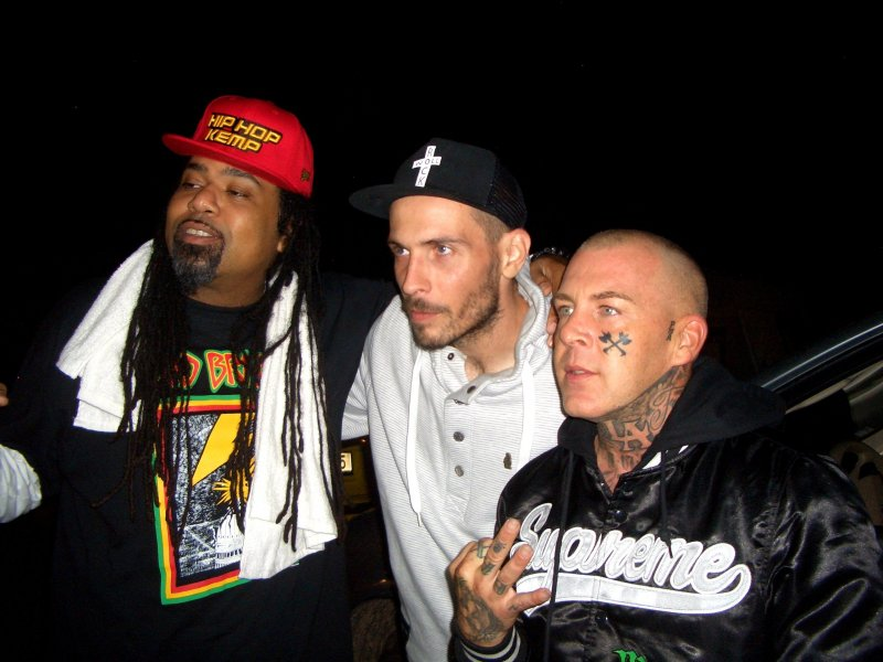 Zleva RAKAA IRISCIENCE (DILATED PEOPLES), O.S.T.R., MADCHILD (SWOLLEN MEMBERS)